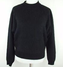 VINTAGE Tally Ho Black Rabbit Hair Lambs Wool Sweater - Women's Size M - EUC!