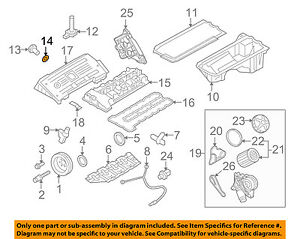 BMW OEM 01-16 X5 3.0L-L6 Engine Oil Pan-Drain Plug Gasket 07119963151