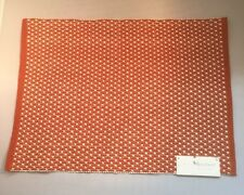 """New With Tags Threshold Burnt Orange Placemat 14""""x19"""""""