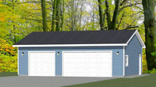 36x28 3-Car Garage -- 1,008 sq ft -- PDF Floor Plan -- Model 11C