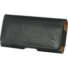 BLACK LEATHER CASE HOLSTER BELT CLIP POUCH FOR IPHONE 4S 5S WATERPROOF ARMOR NEW