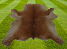 """B Grade  Calfhide Rugs Area Cow Skin Leather Cowhide ULG 35631 (27"""" X 35"""" )"""