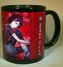 Project Zero 2 Fatal Frame 2 Mayu Mio BLACK coffee MUG CUP playstation ps2 xbox