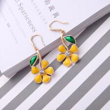 Women Elegant Crystal Rhinestone Ear Stud Flower Earrings Fashion Jewelry