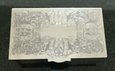 !! STUNNING VINTAGE VINERS ALPHA CHASED SILVER PLATED JEWELLERY/CIGARETTE BOX !!