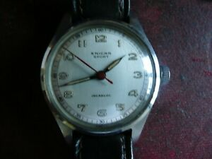ENICAR VINTAGE 17 JEWEL SPORT WATCH POSSIBLY 1940'S. VERY COLLECTABLE.