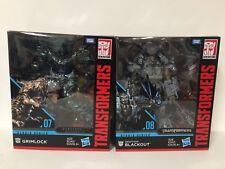 Takara Tomy Transformers Movie Studio Series Leader BLACKOUT + GRIMLOCK IN STOCK