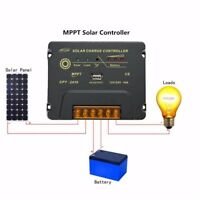3A-30A PWM LCD SCD MPPT Solar Panel Battery Charger Controller Regulator 12V/24