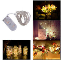 2M 20 LED Battery Operated Outdoor Christmas Party LED String Fairy Lights Decor
