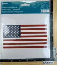 Darcie FLAG DECAL USA Boutique GLASS WOOD PLASTIC SCRAPBOOKING CAR MORE