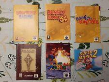 LOT 6 X INSTRUCTIONS BOOKLET NINTENDO N64 /NES DONKEY KONG/ BANJO-KAZOOIE/ MARIO