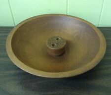 Vtg Solid Walnut Wood Mid Century Nut Bowl No Picks Or Nutcracker 9.5""