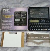 Vintage Sharp EL-6190 electronic Organiser Calculator Memo master alarm 500 1990