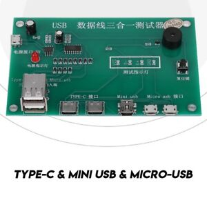 3in1 Type-C Micro USB Tristar Dock Tester Charging IC Tester fr Mobile Phone FOY