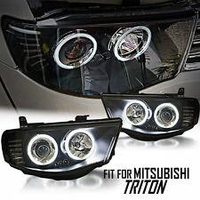 Black Projector Headlight CCFL Mitsubishi Triton L200 MN ML 05 06 07 08 09 10-14