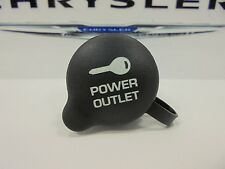 98-16 Chrysler Dodge Jeep Ram New Power Outlet Cap Black Mopar Factory Oem