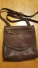 FOSSIL WOMEN'S BROWN LEATHER SMALL CROSSBODY PURSE BAG