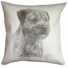Border Terrier MS Breed of Dog Themed Cotton Cushion Cover - Perfect Gift