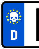 2x Aufkleber Totenkopf Schädel Nummernschild Kennzeichen Plakette Punisher Skull