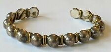 Silpada B0521 Sterling Brass Wire Beaded Cuff Bracelet