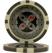 50pcs Ultimate Casino Laser Clay Poker Chips $1