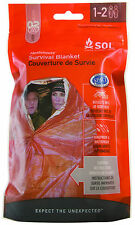 Adventure Medical SOL Survival Blanket! Windproof & Waterproof w/ Survival Tips!