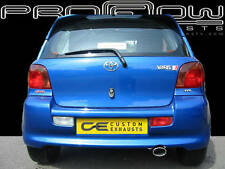 TOYOTA YARIS STAINLESS STEEL CUSTOM BUILT EXHAUST SYSTEM SINGLE TAIL PIPE