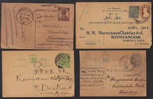 INDIA 1930's COLLECTION OF 8 POSTAL COVERS & CARDS KING GEORGE V DOMESTIC MAIL
