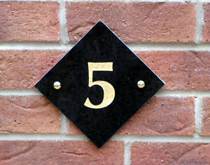 House Number, Granite Door Number, Number Plaque