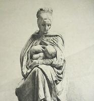 "Henri E Lefort De Apaimé Dale Berwick Lactancia Materna Hijo Niño"" Madonna c1880"