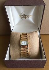 Elipse Ladies Wristwatch - Gold plated stainless steel - crystal dial - *NEW*