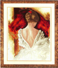 VERVACO COUNTED CROSS STITCH KIT A BEAUTY I NEW EMBROIDERY PORTRAIT LADY BRIDE