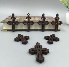 FREE Wholesale 50pcs JESUS Cross Wood Technology Hollow Pendants Fit Necklace
