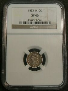 1833 Capped Bust Half Dime Silver Coin NGC XF40