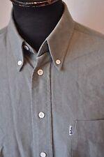 Lee Cooper grey heavy cotton western shirt size XL cowboy rockabilly grunge