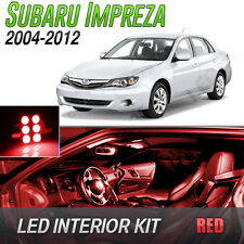 2004-2012 Subaru Impreza Red LED Lights Interior Kit