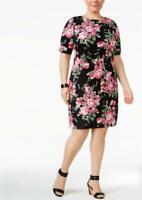 Karen Scott Women Plus Boat Neck Elbow Sleeve T-Shirt Dress Size 1X