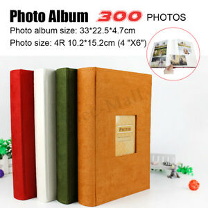 4x6'' Photo Picture Album For 200/300 Pictures Storage Case Baby Wedding