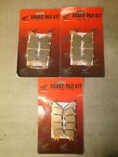 Honda OEM Gold Wing Complete Brake Pad Set Front & Rear 01-14 GL1800 13-14 F6B