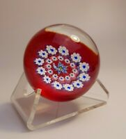 Vintage Caithness CIIG Controlled Millefiori Canes Round Glass Paperweight