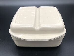 VTG Anchor Hocking Microware~PM481-T1~2 Dish Pan~Divided Lid~1 Quart
