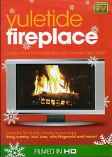 YULETIDE FIREPLACE: VIRTUAL CHRISTMAS HOLIDAY DVD w/CRACKLING SOUNDS & MUSIC OOP