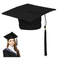 Black Mortar Board Adults Graduation Hat Cap Fancy Dress Accessory For Student *