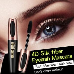 4D Eyelash Makeup Mascara Silk Fiber Waterproof Eye Lasting Long Charm SIX COLOR