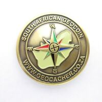 South African Geocoin 2005 New Brass Geocaching Coin NON-TRACKABLE