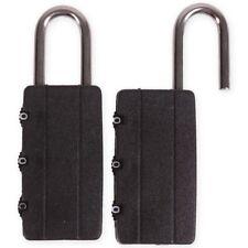 2x SMALL 3 DIGIT COMBINATION PADLOCKS Lock Locker Luggage Suitcase Travel Gym