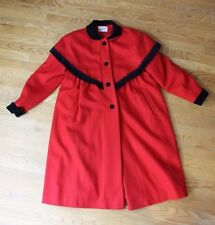 Rothchild Girls 14 Red Wool Long Coat Classic Holiday Victorian Winter
