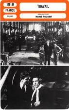 FICHE CINEMA : TRAVAIL - Mathot,Duflos,Pouctal 1919 Work