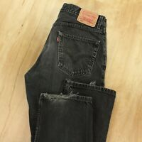 LEVIS 550 mens relaxed fit tapered denim jeans 34 x 32 tag black faded skate