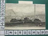 C183 Antik Aufdruck ~ Edinburgh Von Calton Hill Gas Werke Libberton Tower Felsen